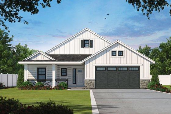 Home Plan - Farmhouse Exterior - Front Elevation Plan #20-2393