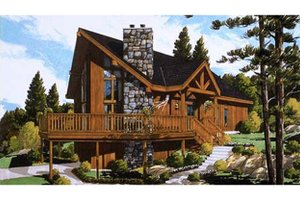 Home Plan - European Exterior - Front Elevation Plan #3-336