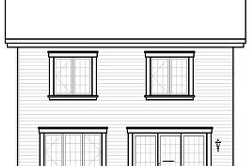 Traditional Exterior - Rear Elevation Plan #23-739 - Houseplans.com