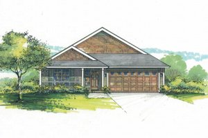Home Plan - Craftsman Exterior - Front Elevation Plan #53-600