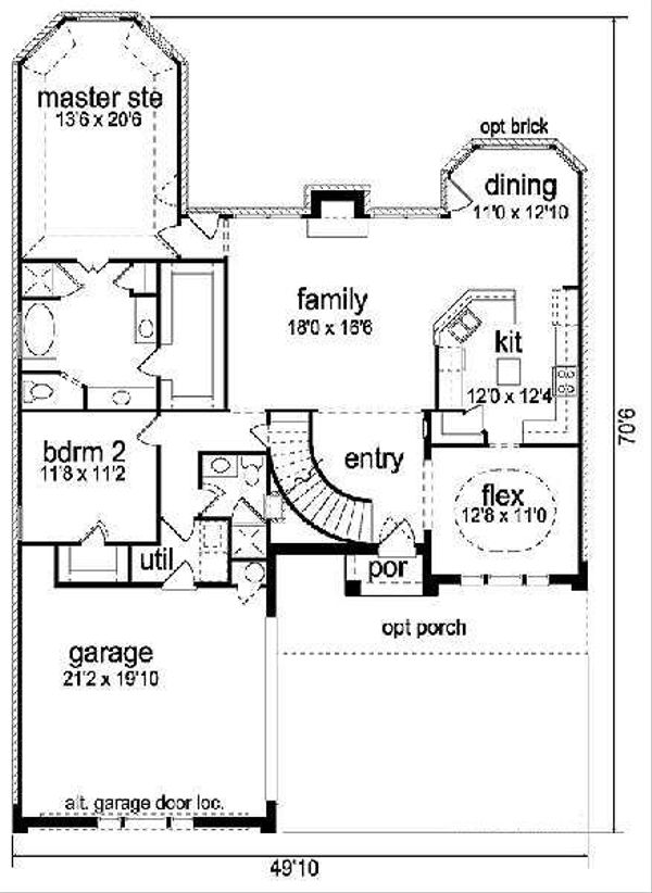 Traditional Floor Plan - Main Floor Plan Plan #84-272