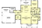 Farmhouse Style House Plan - 2 Beds 2 Baths 1448 Sq/Ft Plan #430-256