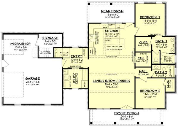 Farmhouse Floor Plan - Main Floor Plan #430-256