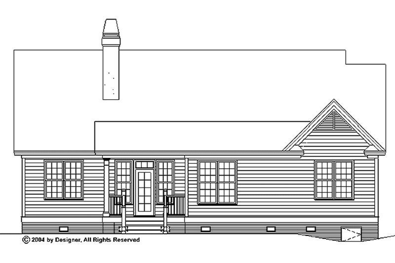 Traditional Exterior - Rear Elevation Plan #929-58 - Houseplans.com