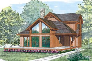 House Blueprint - Exterior - Front Elevation Plan #47-212