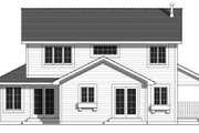 Country Style House Plan - 4 Beds 3 Baths 1802 Sq/Ft Plan #427-3 Exterior - Rear Elevation