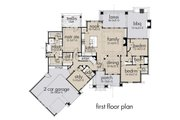 Craftsman Style House Plan - 3 Beds 3 Baths 2397 Sq/Ft Plan #120-193 Floor Plan - Main Floor Plan