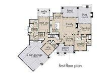 Craftsman Floor Plan - Main Floor Plan Plan #120-193