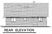 Ranch Style House Plan - 3 Beds 1 Baths 901 Sq/Ft Plan #18-1046 Exterior - Rear Elevation