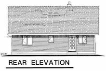 Home Plan Design - Ranch Exterior - Rear Elevation Plan #18-1046