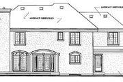 European Style House Plan - 4 Beds 3.5 Baths 4200 Sq/Ft Plan #23-2015 Exterior - Rear Elevation