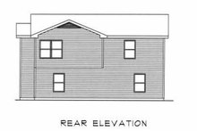 House Plan Design - Traditional Exterior - Rear Elevation Plan #22-403