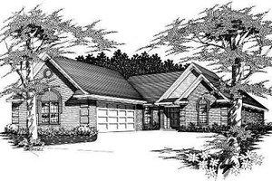 Cottage Exterior - Front Elevation Plan #329-224