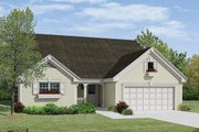 Traditional Style House Plan - 4 Beds 3.5 Baths 2121 Sq/Ft Plan #57-378 Exterior - Front Elevation