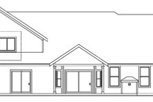 Country Exterior - Rear Elevation Plan #124-667