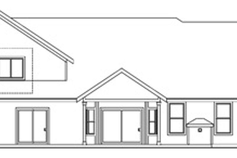 Country Exterior - Rear Elevation Plan #124-667 - Houseplans.com