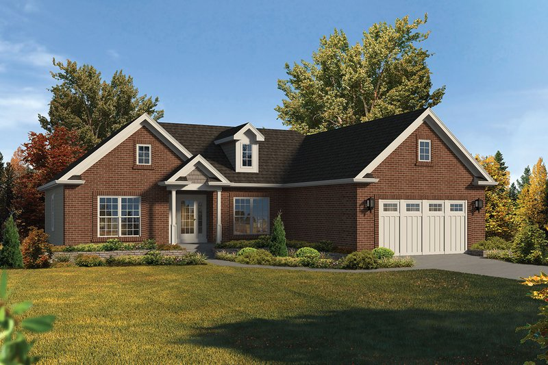Dream House Plan - Ranch Exterior - Front Elevation Plan #57-656