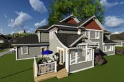 Craftsman Style House Plan - 4 Beds 3.5 Baths 3851 Sq/Ft Plan #70-1291 Exterior - Rear Elevation
