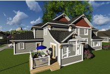 Dream House Plan - Craftsman Exterior - Rear Elevation Plan #70-1291