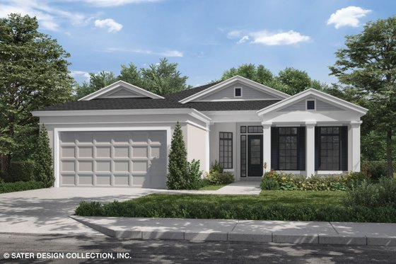Craftsman Exterior - Front Elevation Plan #930-503