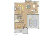 Craftsman Style House Plan - 4 Beds 2.5 Baths 2890 Sq/Ft Plan #1057-14 Floor Plan - Main Floor