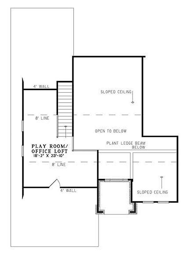 European Floor Plan - Upper Floor Plan Plan #17-200