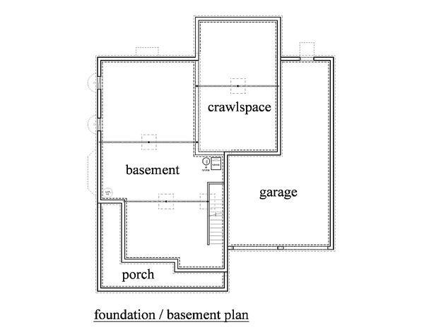 Traditional Floor Plan - Lower Floor Plan #459-4