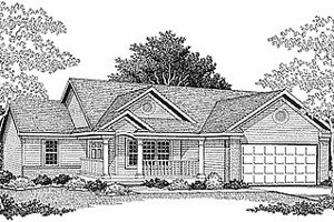 Traditional Exterior - Front Elevation Plan #70-104