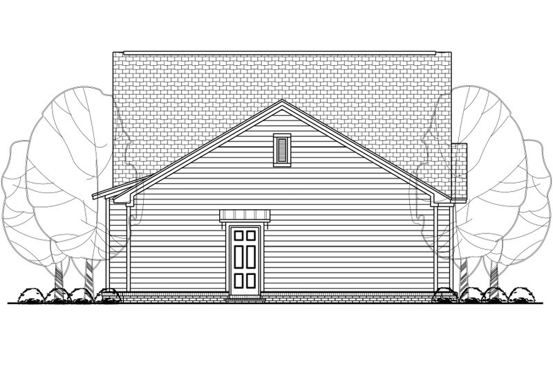 House Plan Design - Cottage Exterior - Rear Elevation Plan #430-114