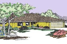Ranch Exterior - Front Elevation Plan #60-512