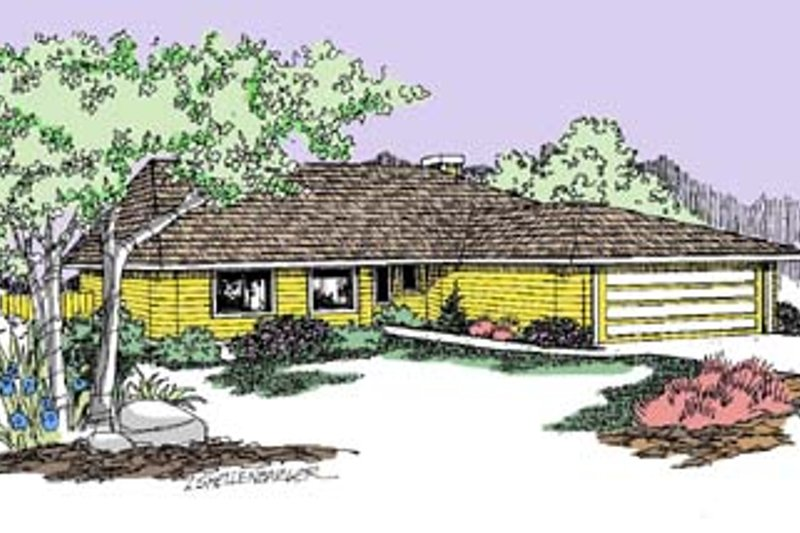 Ranch Exterior - Front Elevation Plan #60-512 - Houseplans.com