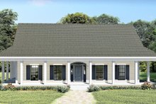 Southern Exterior - Front Elevation Plan #44-237