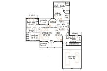 Farmhouse Floor Plan - Main Floor Plan Plan #45-370