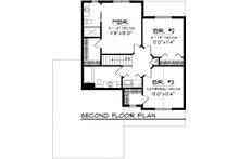 Craftsman Floor Plan - Upper Floor Plan Plan #70-1043