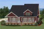 Farmhouse Style House Plan - 3 Beds 2 Baths 2714 Sq/Ft Plan #898-18 Exterior - Rear Elevation