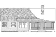 Southern Style House Plan - 4 Beds 3.5 Baths 1990 Sq/Ft Plan #137-256 Exterior - Rear Elevation