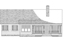 Southern Exterior - Rear Elevation Plan #137-256