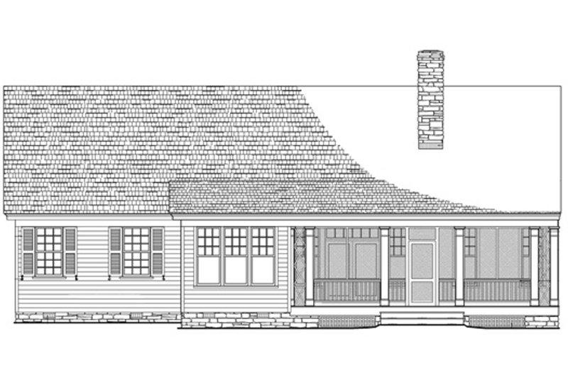 Southern Exterior - Rear Elevation Plan #137-256 - Houseplans.com