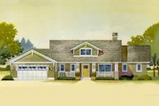 Craftsman Style House Plan - 3 Beds 2.5 Baths 3392 Sq/Ft Plan #901-16 Exterior - Front Elevation