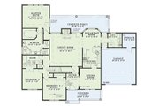 Traditional Style House Plan - 3 Beds 2 Baths 1957 Sq/Ft Plan #17-283 Floor Plan - Main Floor Plan
