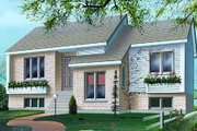 Modern Style House Plan - 3 Beds 2 Baths 2042 Sq/Ft Plan #25-4243 Exterior - Front Elevation