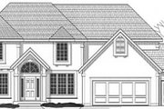 Traditional Style House Plan - 4 Beds 3.5 Baths 2769 Sq/Ft Plan #67-543 Exterior - Front Elevation