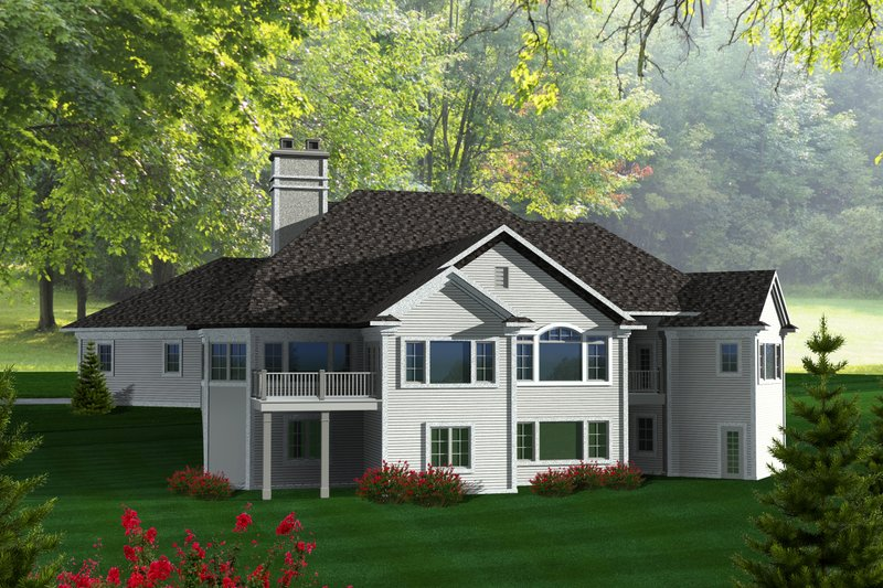 Craftsman Exterior - Rear Elevation Plan #70-1130 - Houseplans.com