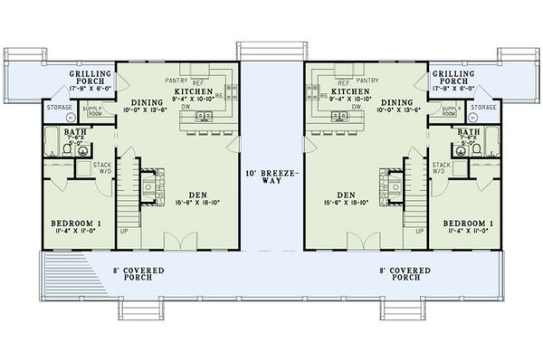Country Floor Plan - Main Floor Plan Plan #17-2564