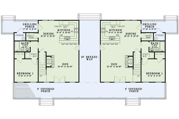 Dream House Plan - Country Floor Plan - Main Floor Plan #17-2564