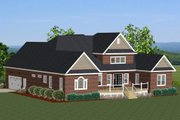 Traditional Style House Plan - 4 Beds 3.5 Baths 2948 Sq/Ft Plan #898-12 Exterior - Rear Elevation