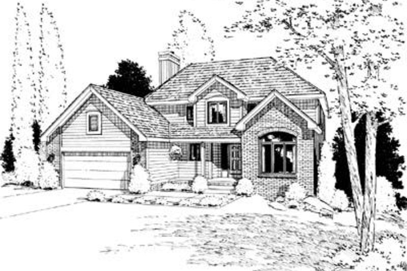 Traditional Exterior - Front Elevation Plan #20-756 - Houseplans.com