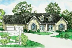 Traditional Exterior - Front Elevation Plan #16-181