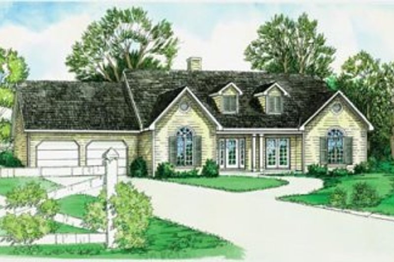 Traditional Style House Plan - 3 Beds 2 Baths 1476 Sq/Ft Plan #16-181