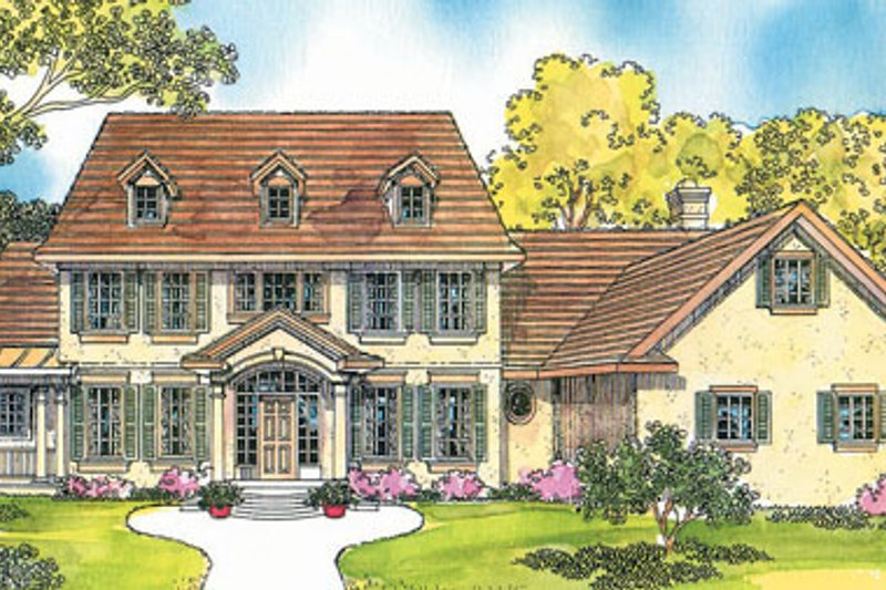 Colonial Exterior - Front Elevation Plan #124-216